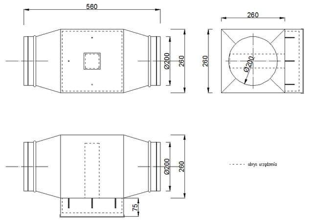 Aeris OXY 550 - wymiary