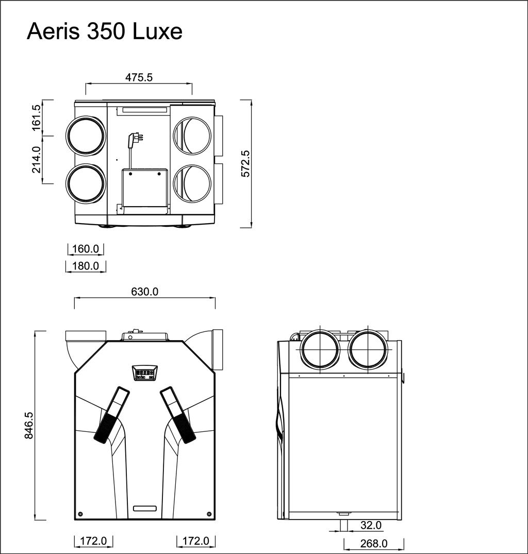 wymiary aeris350luxe vv